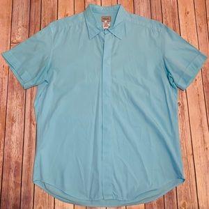 Versace Jeans Signature Mens shirt Aqua blue XXL